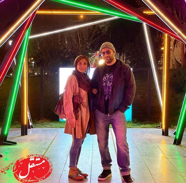 حدیثه تهرانی و همسرش در شبهای پاییزی + عکس